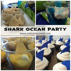 Shark themed ocean birthday party www.notconsumed.com