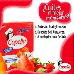 ¿Cuál es para ti el mejor momento para disfrutar de una #Panelita de #Arequipe y #Coco Light de #Copelia? ¡#DiviérteteConCopelia!