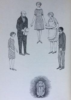 leave my kids alone. Edward Gorey Books, Dracula Costume, Masterpiece Mystery, John Kenn, Wordless Book, Black Phillip, Edward Lear, Ink Pen Drawings, Memento Mori