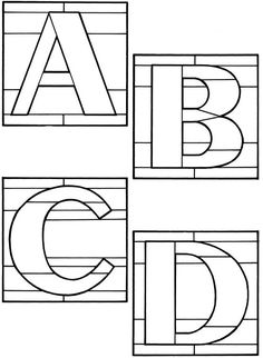 Decorative Alphabets Stained Glass Pattern Book by Ed Sibbett - Book - Read Online Stained Glass Patterns Free, Stained Glass Quilt, Stained Glass Crafts, Faux Stained Glass, Stained Glass Lamps, Stained Glass Designs, Stained Glass Panels, Leaded Glass, Fused Glass