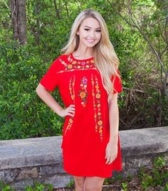RIO EMBROIDERY DRESS