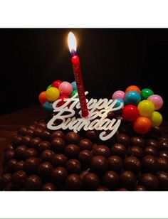 Happy Birthday DaddyGlad you loved the home-made Malteser cake Love you xoxo