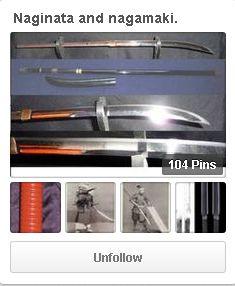 Naginata and nagamaki, long handled Japanese bladed weapons. http://www.pinterest.com/nihonnokatchu/naginata-and-nagamaki/