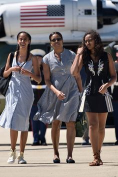 Michelle Obama and Her Daughters Are Here to Give You More Sundress Envy