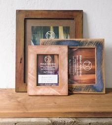 Painted Reclaimed Evergreen Wood Picture Frame