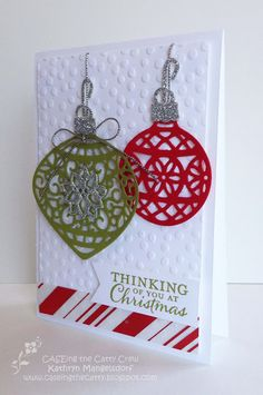 Kathryn's Stampin' World: CASE-ing the Catty Home for Christmas - CTC49 - SU - Embellished Ornaments stamp set, Delicate Ornament Thinlits Die