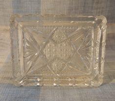 Glass Other Bohemian/czech Art Glass Earnest Vintage Bohemia Lead Crystal Heart Dish Trinket Box With Lid ~ Original Box