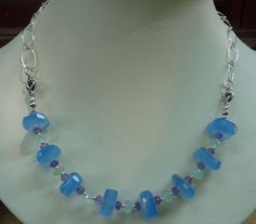 MacDesigns  Blue Chalcedony Prehnite Necklace by macdesignsgallery, $142.00