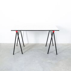Rodney Kinsman for Bieffeplast Rare Desk Grid Table, Italy, circa 1985