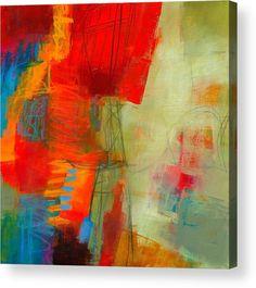 Acrylic Acrylic Print featuring the painting Blue Orange 1 by Jane Davies