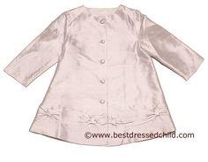 Baby Biscotti Infant / Toddler Girls Fairest of All Pink Silk Dressy Dress Coat