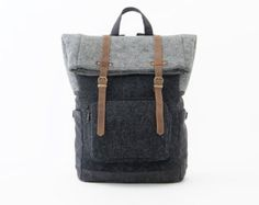 It features TWO ways of carrying; * Full daily backpack * Full weekender backpack  MATERIALS: * 100% wool felt * 100% full grain leather * Cotton lining *