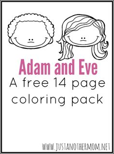 If you're looking for materials to help teach the story of Adam and Eve, take a look at these free Adam and Eve coloring pages. 14 pages all together, 7 with Bible verses and 7 without.