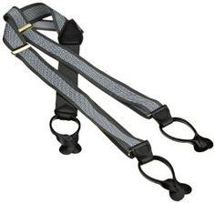 Geoffrey Beene Men's Chevron Stripe Saddle Tab Suspender, Grey/Black/Slate, One Size Geoffrey Beene. $27.50