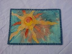 Summer scrappy mug rug- cropped and bound by ams2010, via Flickr
