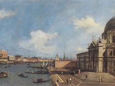 Canaletto, Entrata nel Canal Grande dalla Basilica della Salute