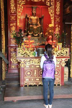 Templo de la Literatura, la primera universidad de Vietnam. En Hanoi,