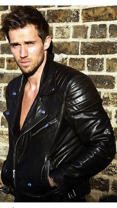 Men Leather Jacket Outfit                                                                                                                                                                                 More