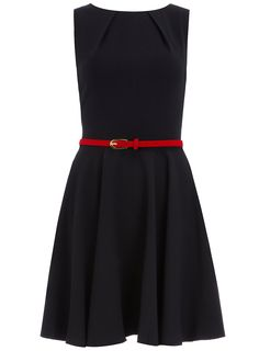 Dorothy Perkins - Navy fit and flare dress