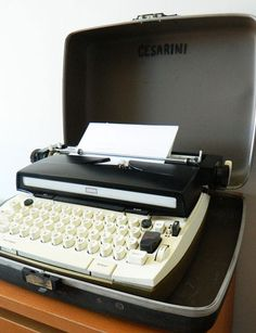 "Sears Electric Typewriter - no more ""pecking"" at the keys!"