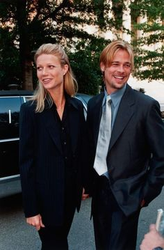 Gwyneth Paltrow and Brad Pitt, 1990.