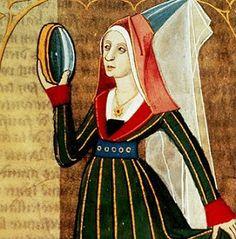 "burgundian-gown Boccace's ""de mulieribus claris"" around 1490 Moda Medieval, Medieval Life, Medieval Fashion, Medieval Clothing, Medieval Art, Renaissance, Medieval Costume, Medieval Dress, Historical Costume"