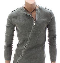 Diagonal Zip Thin Sweater - SLS Distributors Men's Boutique, LLC