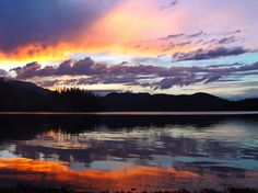 Hungry Horse Lake in Montana. One of my most favorite places.