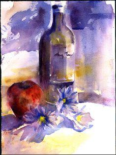 watercolor painting original - alisa wilcher. $69.00, via Etsy.