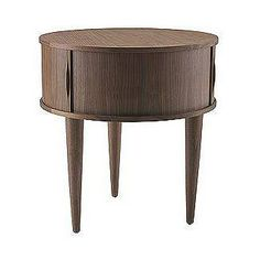 Contemporary Umbra U+ Rolly Walnut Side - $225.00 USD - Natural wood table & bench set