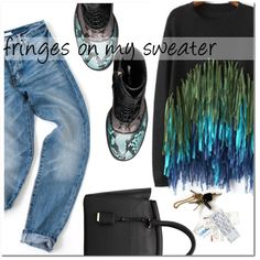 How To Wear fringes on my sweater Outfit Idea 2017 - Fashion Trends Ready To Wear For Plus Size, Curvy Women Over 20, 30, 40, 50