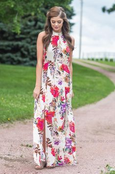 2b98954385e Finding a Way Ivory Floral Maxi Dress Young Fashion