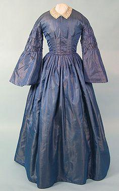 1850s Shot Silk Dress