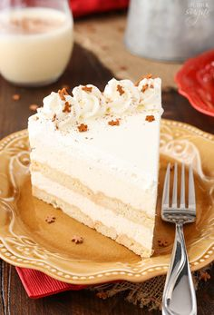 "sweetoothgirl: "" No Bake Eggnog Icebox Cake """