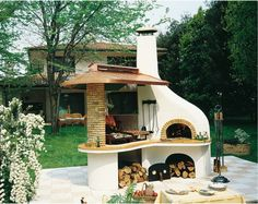 Nuovo Vulcano Olasz kerti kő grill és kemence,kerti sütő,kerti kemence - Olasz kerti grill és kemence