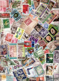 500 selos novos sem carimbo 1