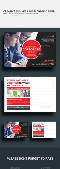 Buy Marketing Corporate Business Postcards by GraphicForestNet on GraphicRiver. Marketing Corporate Business Postcards Specification CMYK Color Mode 300 DPI Resolution Size Bleed in Each. Postcard Printing, Postcard Template, Postcard Design, Corporate Business, Creative Business, Brochure Design, Design Layouts, Design Ideas, Marketing Flyers