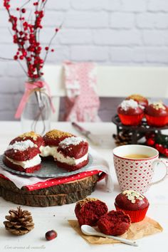 Roscón de Reyes Red Velvet (y cupcakes) | Con aroma de vainilla