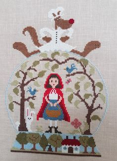 Patchwork Hiver Cross Stitch Chart and Free Embellishment