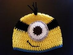 Adorable Despicable Me Inspired Minion Hat  Great for Halloween Photography Prop Newborn Infant Toddler Child Adult