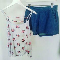 • Blusa y short  perfectos para ti! • #ootd #pandoraatelierstyle #newarrivals #pandoraatelier #springcollection #ss16