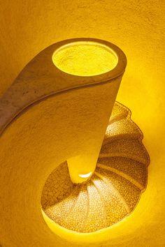 Yellow Staircase by Javier Senosiain