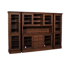 Tucker Wall Unit, 1 Buffet, 1 Hutch U0026 2 Towers, Mahogany Stain Wine