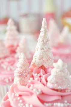 Cupcakes de jengibre y naranja (de rosa Navidad)...