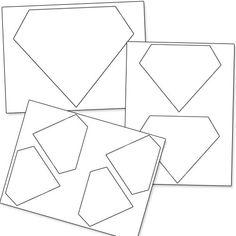 Printable Diamond Shapes from PrintableTreats.com
