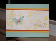 Little Bay Stampin': Start-to-Finish Sunday #8 - Butterfly Punch Card - featuring Stampin' Up! #stampinup
