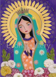 Our Lady of Guadalupe La Virgen De Guadalupe 2 by Evonagallery