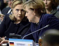 Hillary: I'm terrified of the idea of becoming president of the USA ... Angela: You'll get over it ...