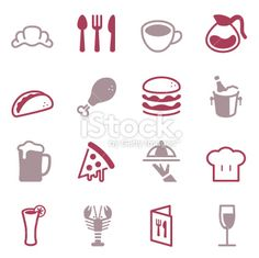 Restaurant Icons - Color Series