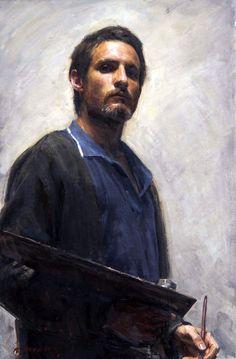 'Self Portrait' by Robert Hannaford, 1970. Oil on canvas.